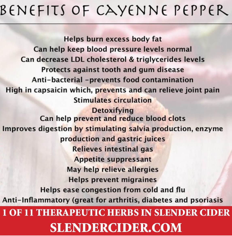Benefits of Cayenne