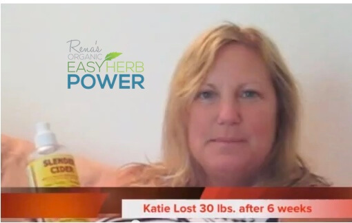 Katie Jane loses 30 lbs  with Slender Cider