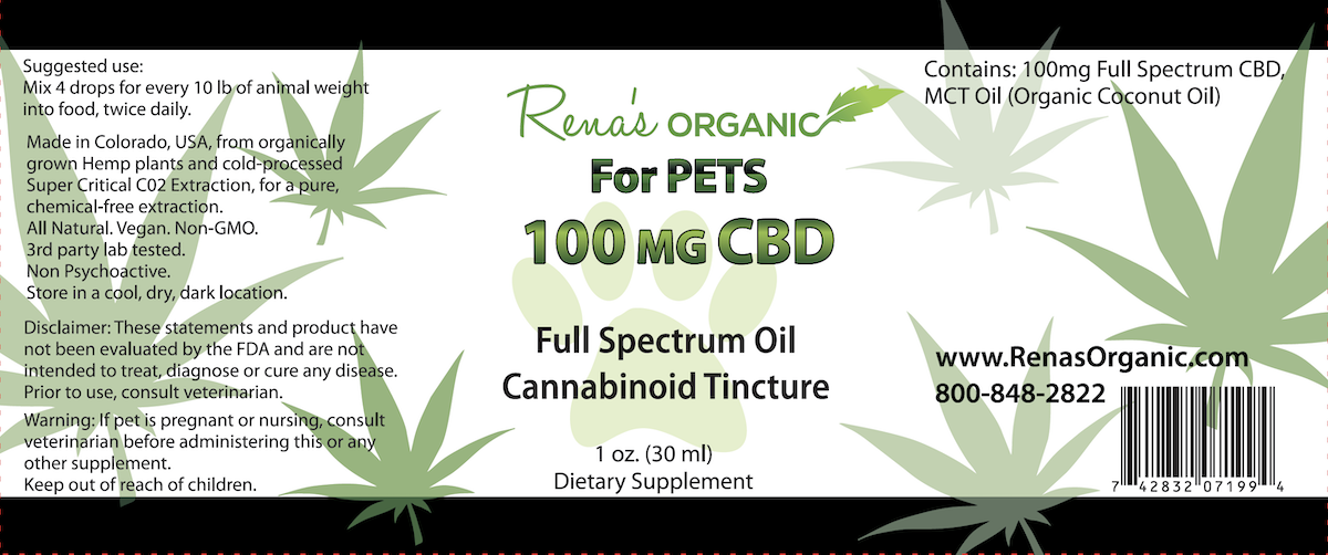 100 mg. Pet CBD Health Product