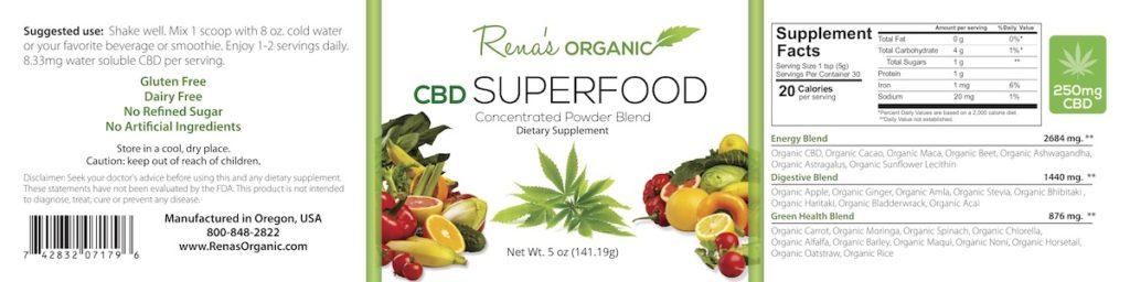 CBD Super Food Label