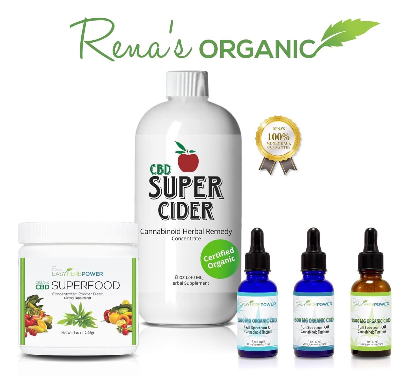 Renas Organic CBD banner