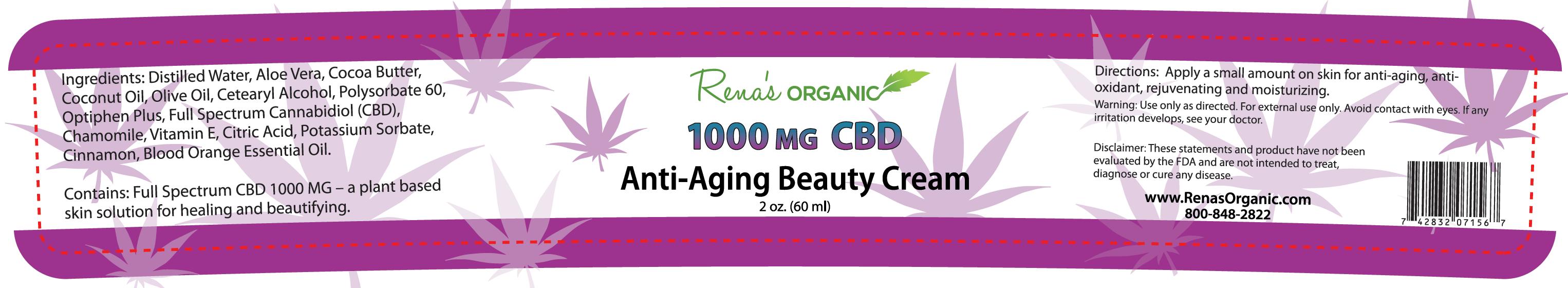 1000 mg CBD anti aging cream