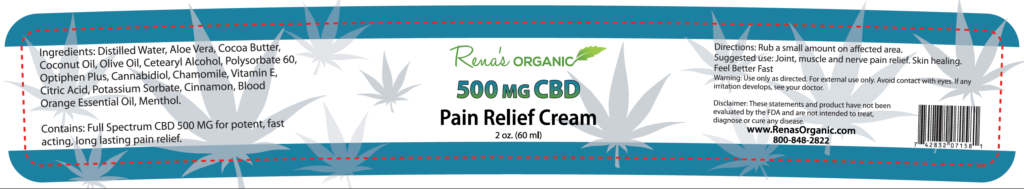 500 mg pain cream CBD