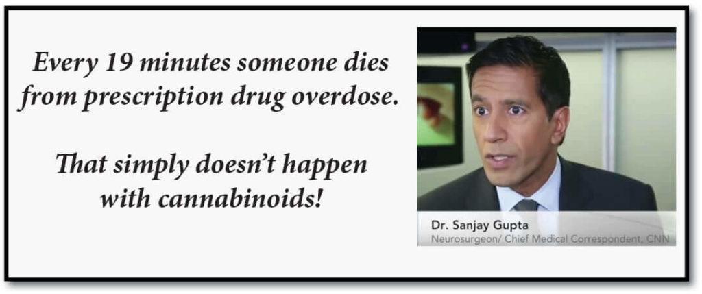 Dr Gupta CBD stops drug overdoses
