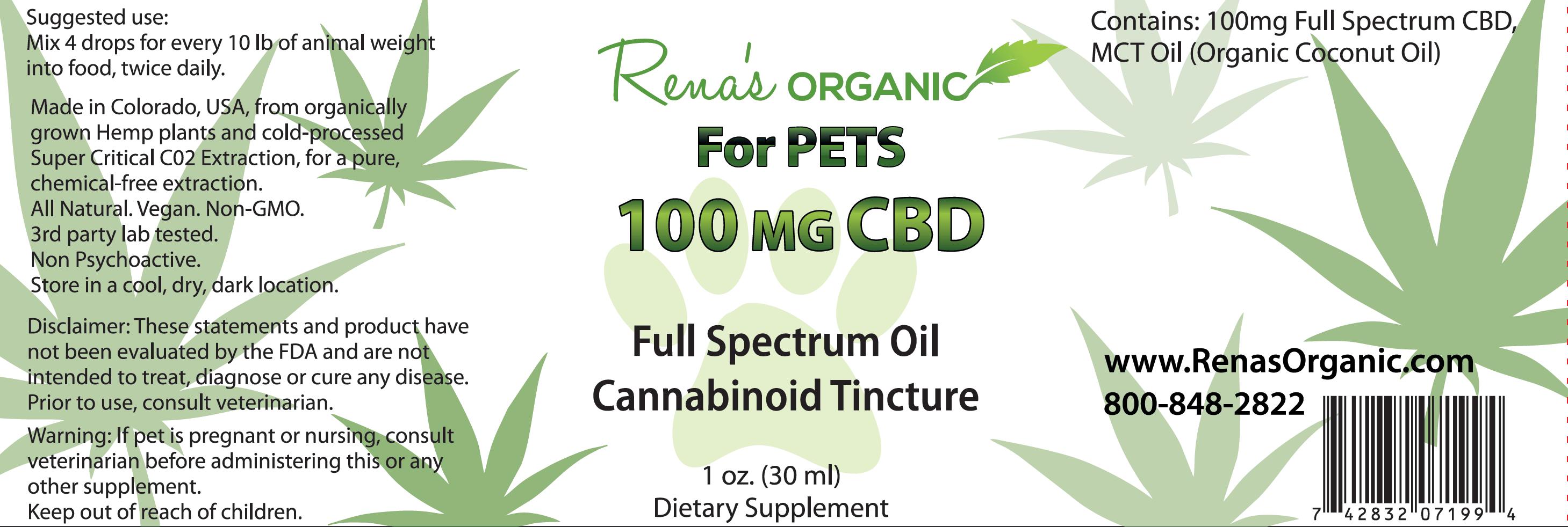 Rena's Organic CBD Pet Formula