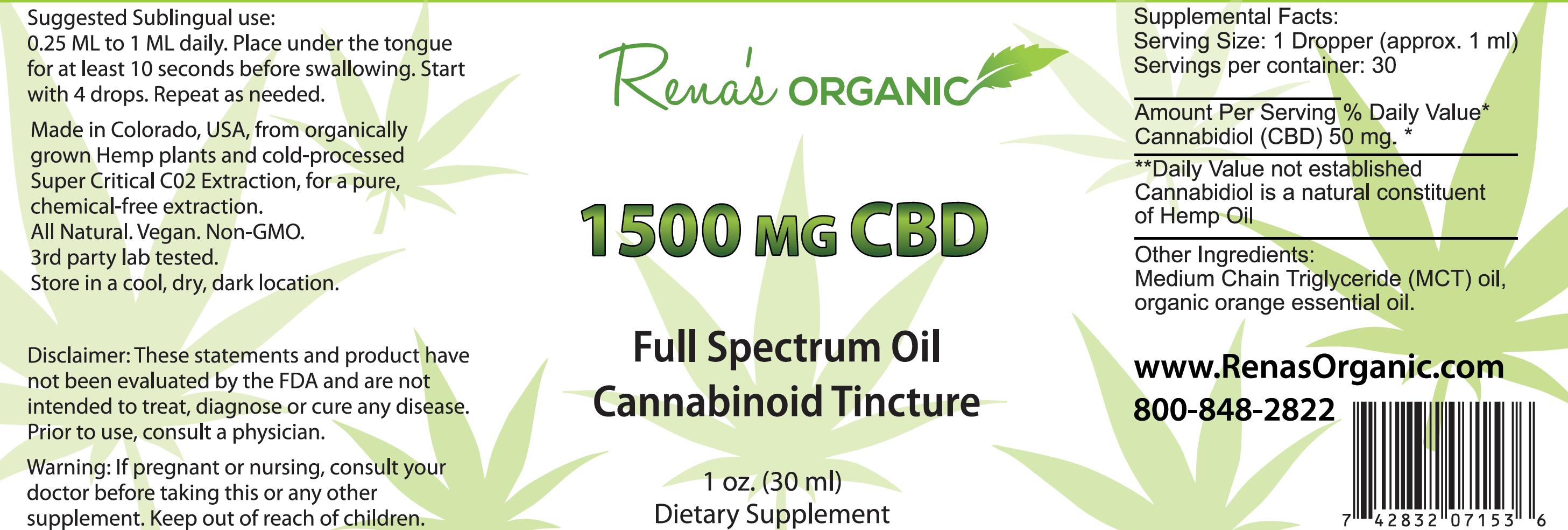 1500 mg CBD tincture
