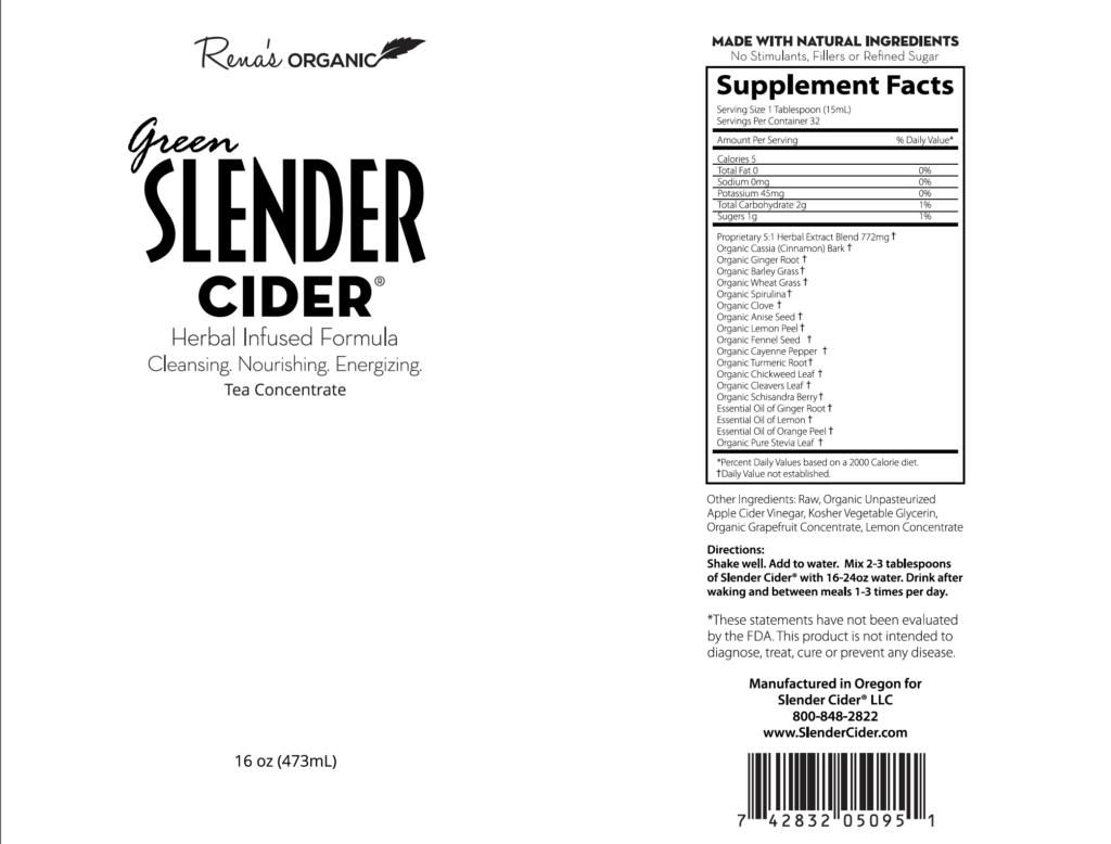 Green Slender Cider label 16 oz.