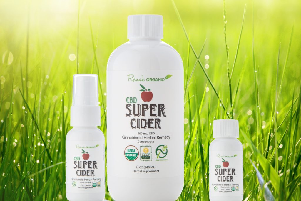 CBD super ciders grass