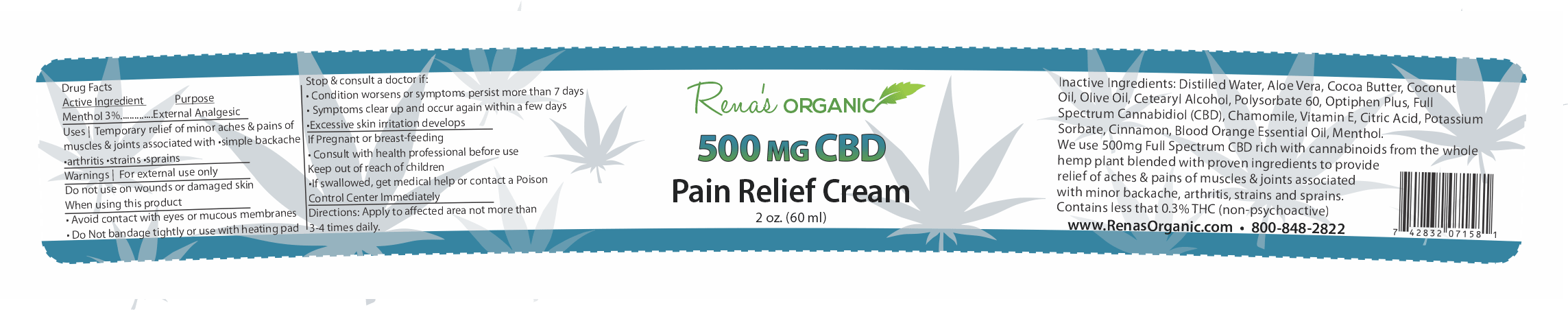 RO 500mg-CBD Pain Cream