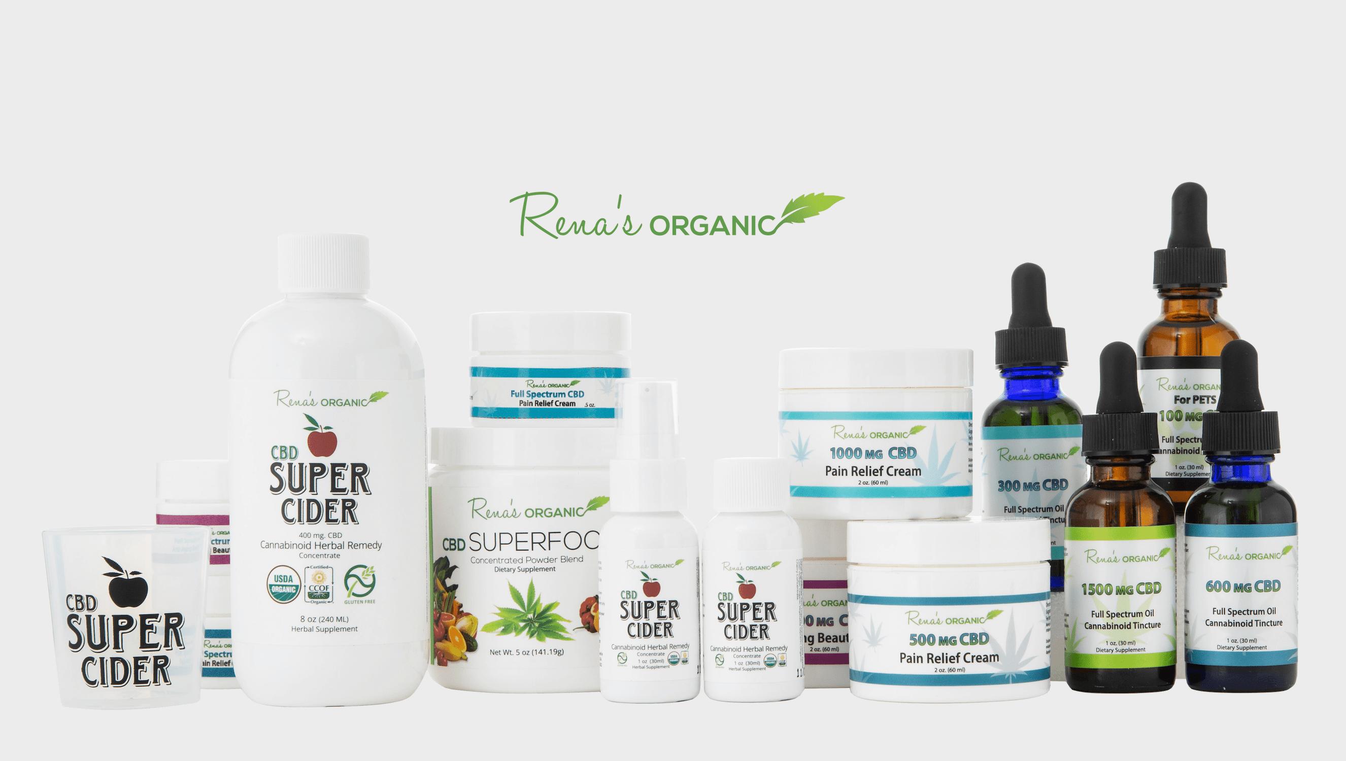 Rena's Organic CBD products