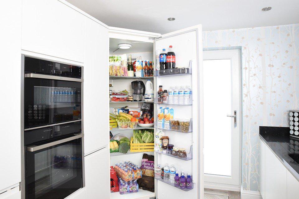 fridge door open