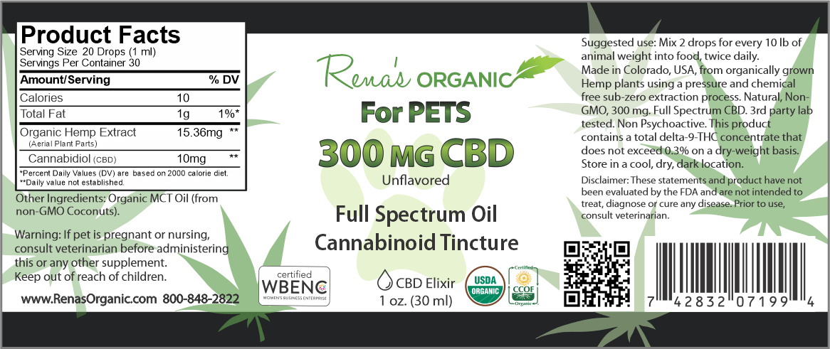 300mg cbd pet tincture