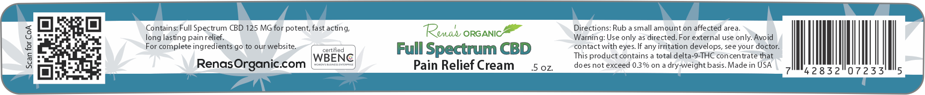 Rena's Organics also offers the best cbd cream on the market - cbd pain cream, cbd cream for back pain, cbd pain relief cream, cbd lotion for pain and more