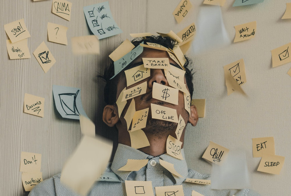 Stressed-Man-Triggers-Sticky-Notes