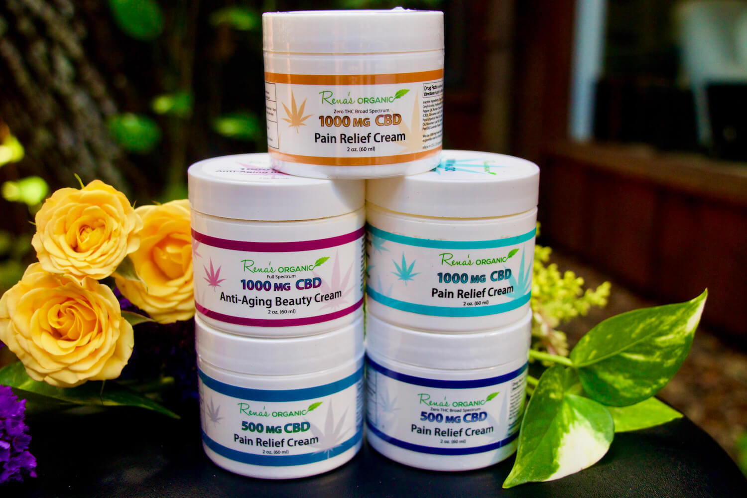 Rena's Organics also offers the best cbd cream on the market - cbd pain cream, cbd cream for back pain, cbd pain relief cream, cbd lotion for pain and Slender Cider on the market!